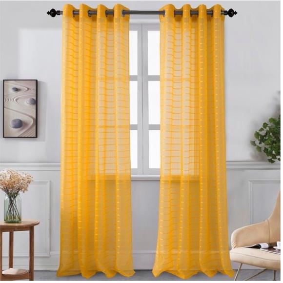 Glory Home Design Other - Karen Sheer Grommet-Top Single Curtain Panel_APSHR